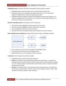 embedded systems tech note basic embedded system model
