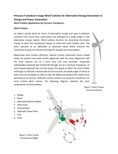 Pressure Transducer Usage Wind Turbines for Alternative Energy