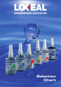 Selection Chart - Loxeal Engineering Adhesives and Sealants