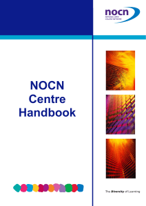 NOCN Centre Handbook - Diocesan Department for Education