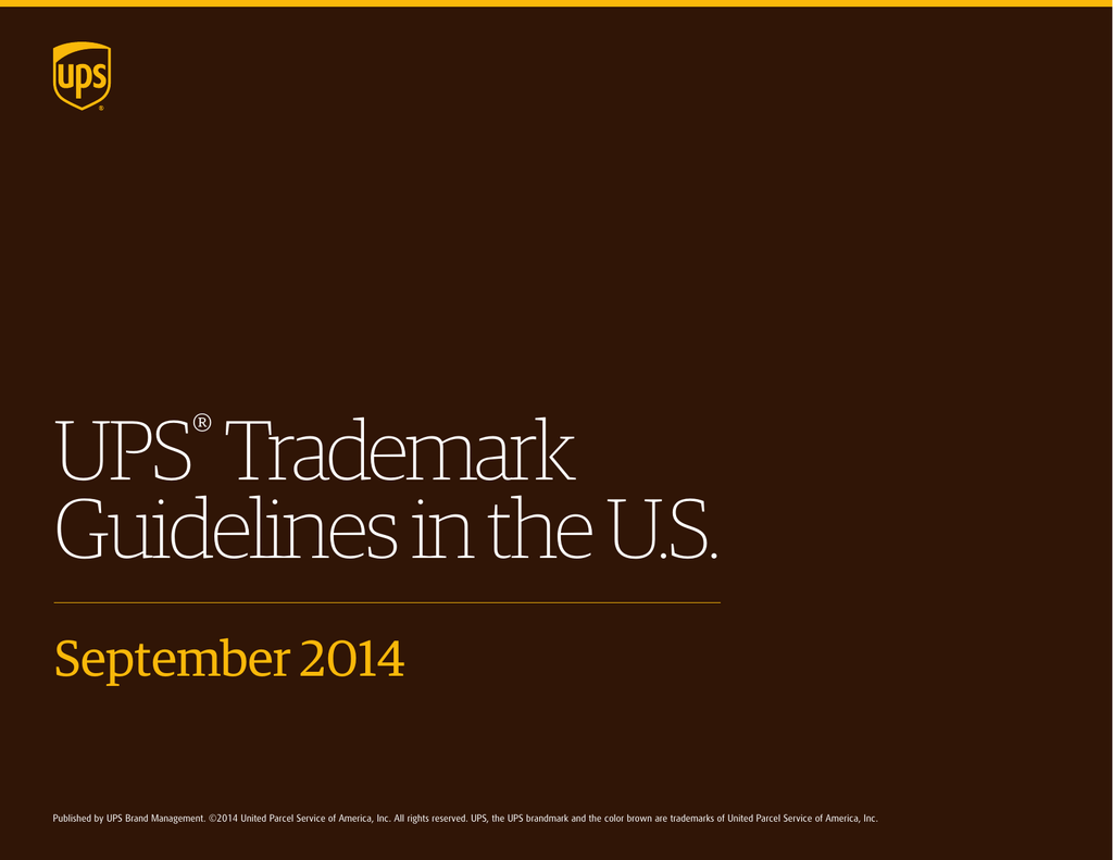UPS® Trademark Guidelines in the US
