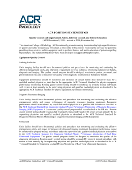 acr position statement on   American College of Radiology studylib net