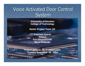 Voice Activated Door Control System