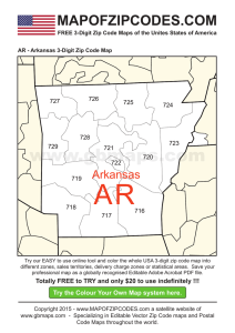 AR - Arkansas 3-Digit Zip Code Map - USA Zipcode Maps 3