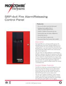 SRP-4x4 Fire Alarm/Releasing Control Panel