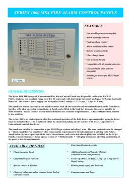 series 1000 mk4 fire alarm control panels