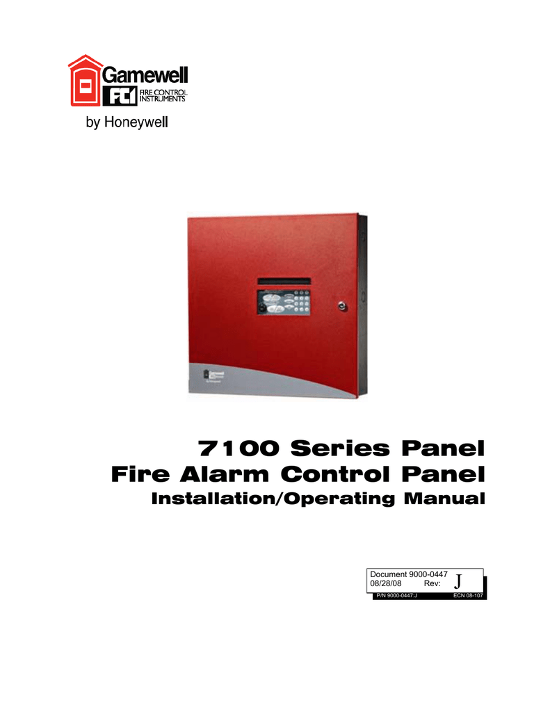 J 7100 Series Panel Fire Alarm Control Gamewell Wiring Diagram