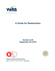 A Guide for Researchers
