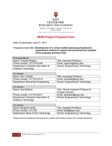 MURI Project Proposal Form - Oncourse