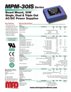 MPM-30IS Datasheet - Micropower Direct