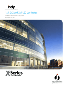 1x4, 2x2 and 2x4 LED Luminaires