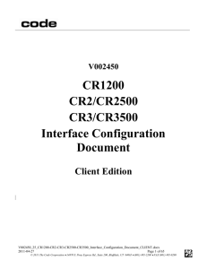 Interface Configuration Document