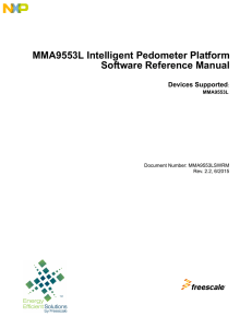 MMA9553L Intelligent Pedometer Platform Software