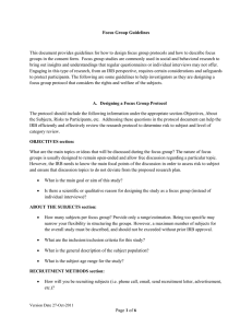 Page 1 of 6 Focus Group Guidelines This document provides