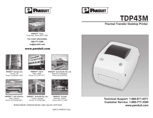 Instruction Manual for TDP43MY Printer