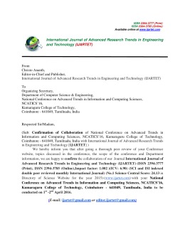 International Journal of Advanced Research Trends in