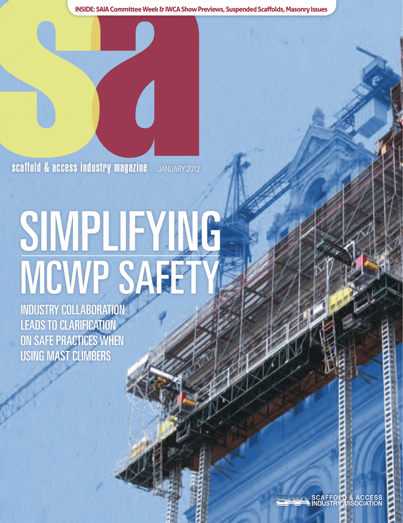 January - Scaffold and Access Industry Association