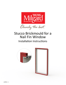 Stucco Brickmould for a Nail Fin Window