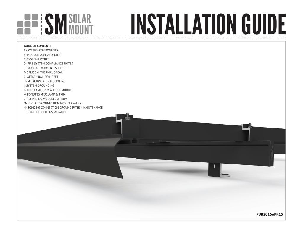 Unirac SolarMount Installation Guide