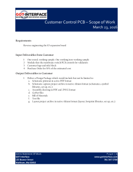 Customer Control PCB – Scope of Work