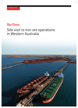 Site visit to iron ore operations in Western Australia