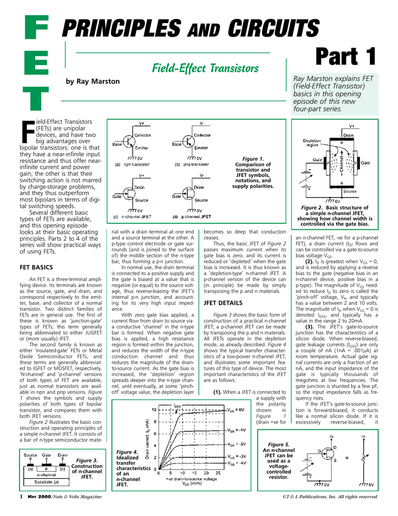 Fet Principles And Circuits The Level Voltage Of Logic Changer By A Jfet