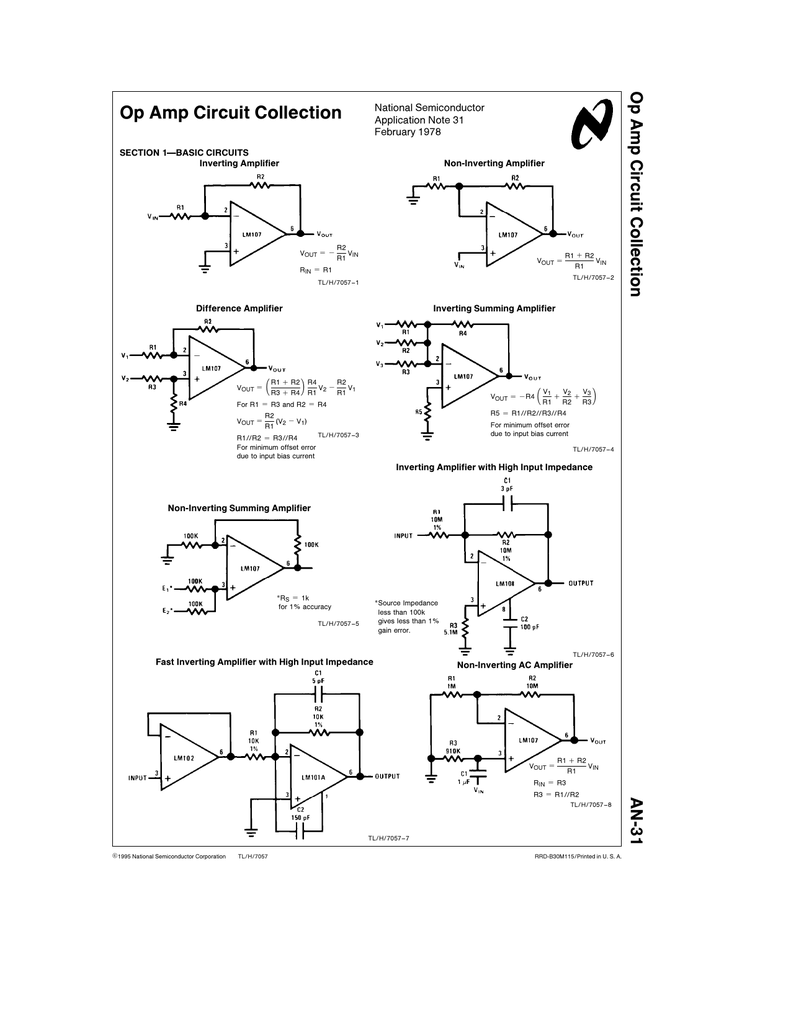 Op Amp Difference Amplifier