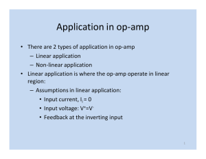 Application in op-amp