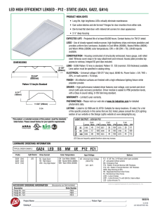 led high efficiency lensed - p12 - static (ga24, ga22