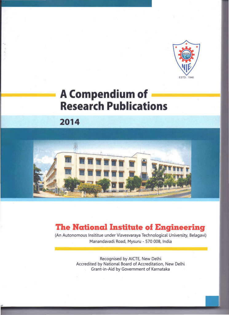 A-Compendium-of-Rese   - National Institute Of Engineering