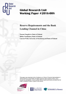 Reserve Requirements and the Bank Lending Channel in China