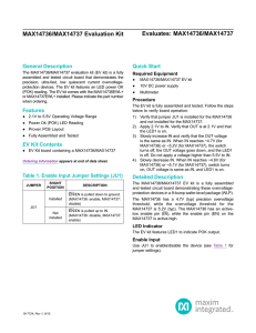 Evaluates: MAX30105 MAX30105 Evaluation Kit