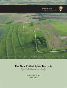 The New Philadelphia Townsite Special Resource Study