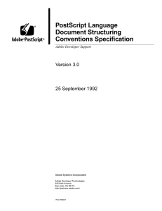 PostScript Language Document Structuring Conventions Specification