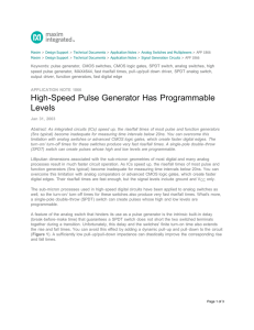High-Speed Pulse Generator Has Programmable Levels