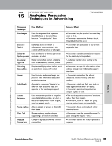 Analyzing Persuasive Techniques in Advertising