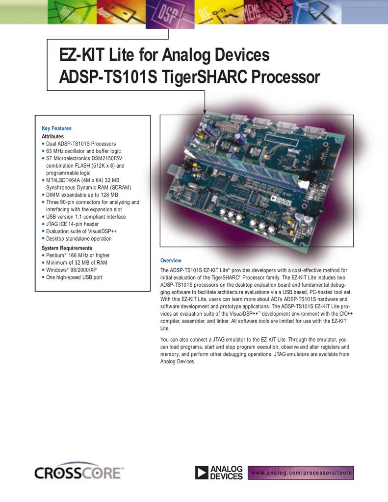 ADSP-TS101S EZ-KIT LITE DRIVER FOR WINDOWS 7