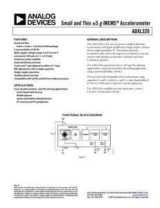 ADXL320 Small and Thin ±5 g iMEMS® Accelerometer Data Sheet