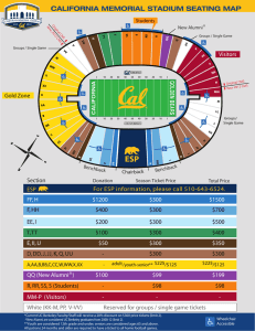 california memorial stadium seating map