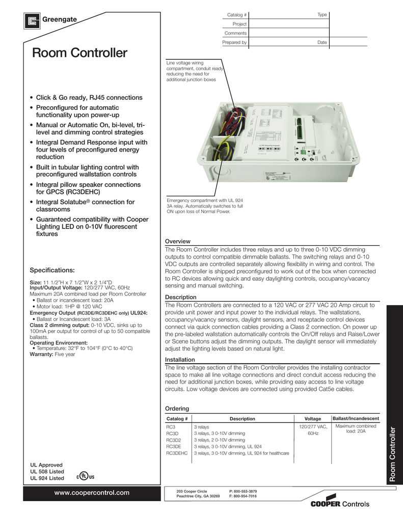 Room Controller - Horton Controls Group on