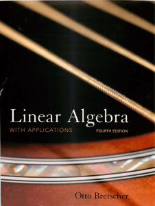 Linear Algebra with Applications, by Otto Bretscher