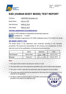 ESD (HUMAN BODY MODE) TEST REPORT
