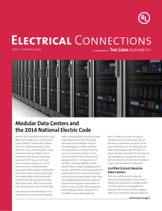 Modular Data Centers and the 2014 National Electric Code