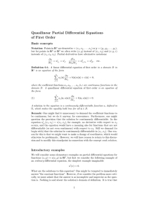 Quasilinear Partial Differential Equations of First Order