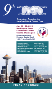 View the Final Program - AHNS 9th International Conference on