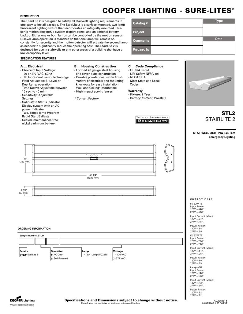 Cooper Lighting Sure Lites 4 Light Rapid Start Ballast Wiring Diagram