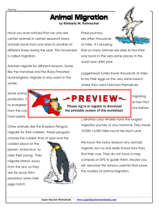 Migration - Super Teacher Worksheets