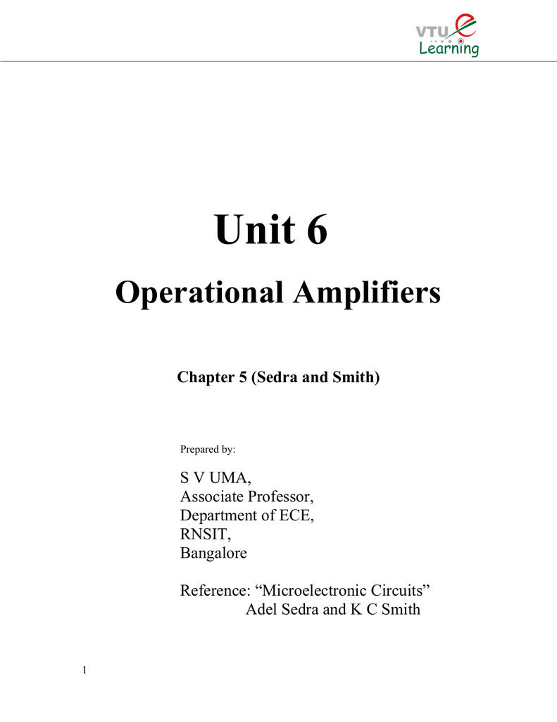 Unit 6 Vtu E Simple Op Amp Inverting Amplifier Circuit Employing Negative