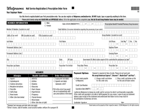 Prescription Order Form