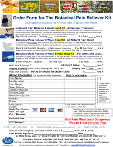Print and Fax Order Form - Carpal Tunnel Treatment